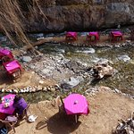 """Cafe Restaurants"" along the Ourika river"