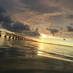 Sunset over Flagler Railroad Bridge at Bahia Honda State Park