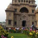 Beautiful flower garden outside Belur Math temple