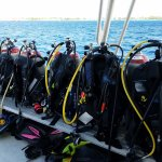 All the gear set up & prepared for diving before guests arrive.