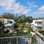 View from Rachel's breakfast towards beach end of hotel