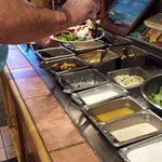 Small salad bar includes 2 soups