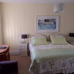 Room 4, Nine Maidens, twin or super king. Ensuite bathroom, free standing bath, shower, twin sin