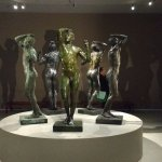 Six different reproductions of same Rodin work, from six different collections.