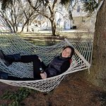 Could not resist the hammock in February!