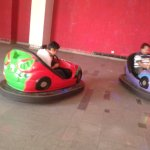 Kids enjoying Striking Cars at Junction Mall