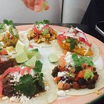 Beautifully-presented tacos- one of everything