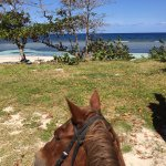 Riding on the beach with Braco Stables