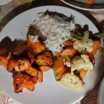 Mahi Mahi (Tikka) with Rice and Boiled Veggies