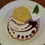 Lemon cookie ice cream sandwich w blueberry :)