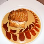 Red snapper with potato scales