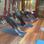 Aerial Yoga at the spa