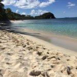 Smuggler's Cove Beach, less populated side closer to rocky shore.