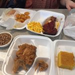 Meatloaf and fried chicken