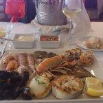 Parrilla de pescado y marisco