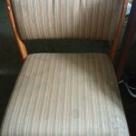Upholstery stained