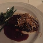 Filet with Truffle String Fries and Mushroom Sauce