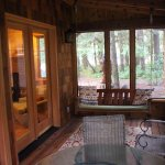 Belknap Cabin, screened-in porch