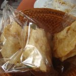 Fried crackers with lunch and dinner (we liked soya bean flavour)