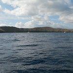 Sailing towards the crater