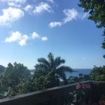 Looking out from Kanopi's deck to the Caribbean Sea.