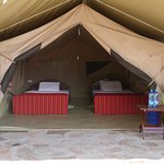 Lovely tent accommodations (hot showers en suite as well!!) Photo, Steve Barth