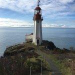 Sheringham Point Lighthouse, 15 kilometres past Sooke