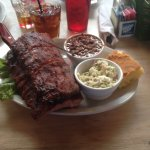 Baby back ribs, coleslaw and beans
