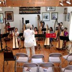 Harp workshop in Acorn Inn Reception Gallery