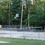 Tennis Court and Hoops