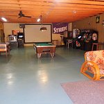 Huge Game Room with Pool & Foosball tables and vintgage video games