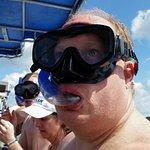 Getting ready to swim/snorkel