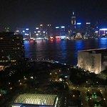 Night view from an Executive Club Room: Hong Kong Cultural Center & World Financial Center