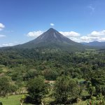 The view from our room and the arenal volcano.