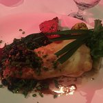 Fig appetizer stuffed with cheese and flashed fried, escargot Amazon fish fried special and bran