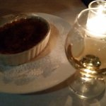 Creme brulee and calvados
