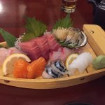 Loved the sashimi, freshness, variety, and price (even abalone!)