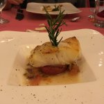 Grilled Chilean Seabass on Grilled Roma tomatoes