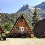 Cabins in the summertime