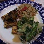 Noodles, tofu & eggplants