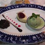 Chocolate mousse, cheesecake, lemongrass icecream