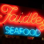 Iconic Faidley Seafood sign.