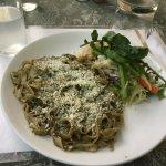 Basil Pasta and Lemon Soda