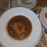 Stew fish (grouper) and johnny cake