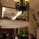 Black Chandelier at the Hotel Lobby