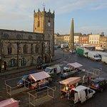 Castle Tavern overlooks the lovely market square
