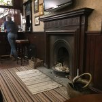 Lovely old open fire, rustic charm