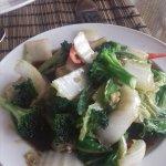 Pat pak namman hoi – A selection of fresh green vegetables
