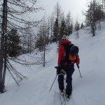 Ski touring on the actual Petit Tournalin mountain!!!