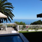 View from the Neptune Bedroom with private pool